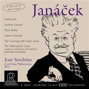 Reference Recordings Doppel HDCD - José Serebrier Janáce