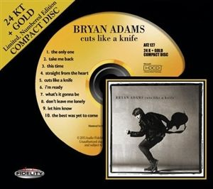 Bryan Adams - Cuts Like A Knife - 24 Karat Gold CD HDCD