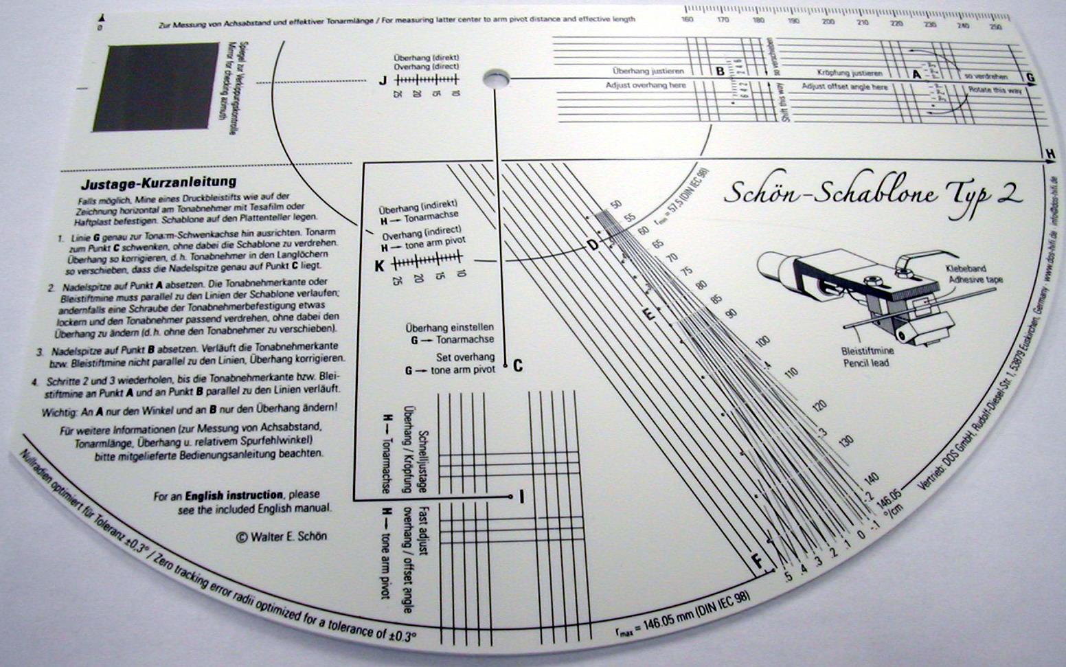Schön Schablone Typ2 | Justage | Loftsound
