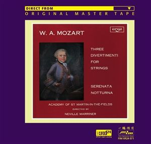 Marriner - Mozart: Three Divertimenti for Strings XRCD24