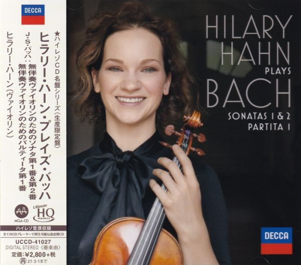 Hilary Hahn Plays Bach Sonatas 1 & 2 Partita 1