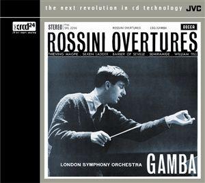 Pierino Gamba & London Symphony: Rossini Overtures - XRCD24